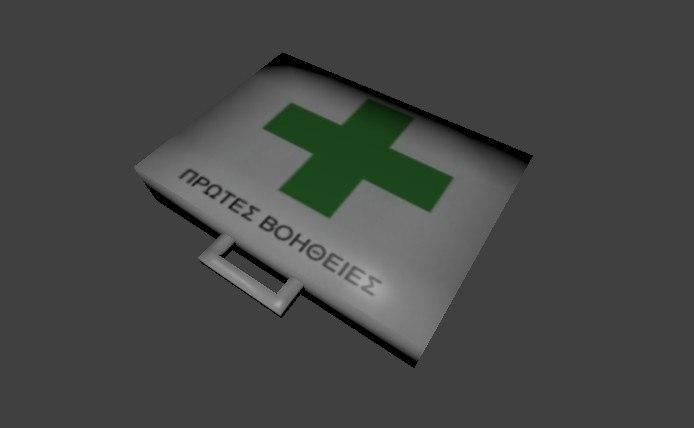 free aid kit greek 3d model