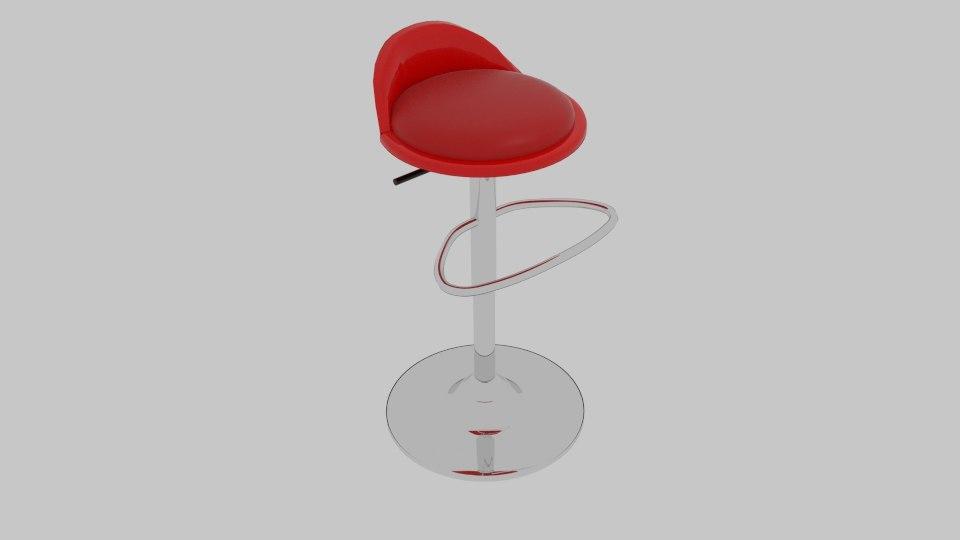 3d model of lmb bar stool