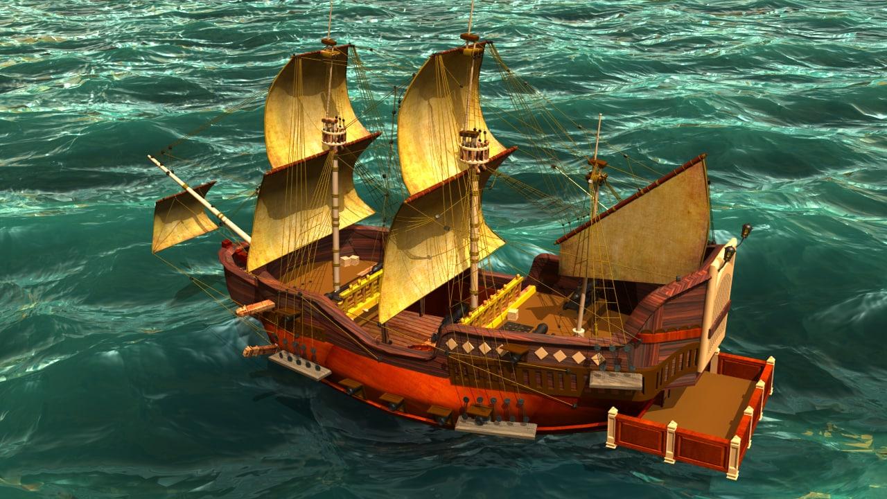 obj sailing ship