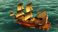 obj sailing ship