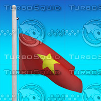 flag vietnam - loop 3d max