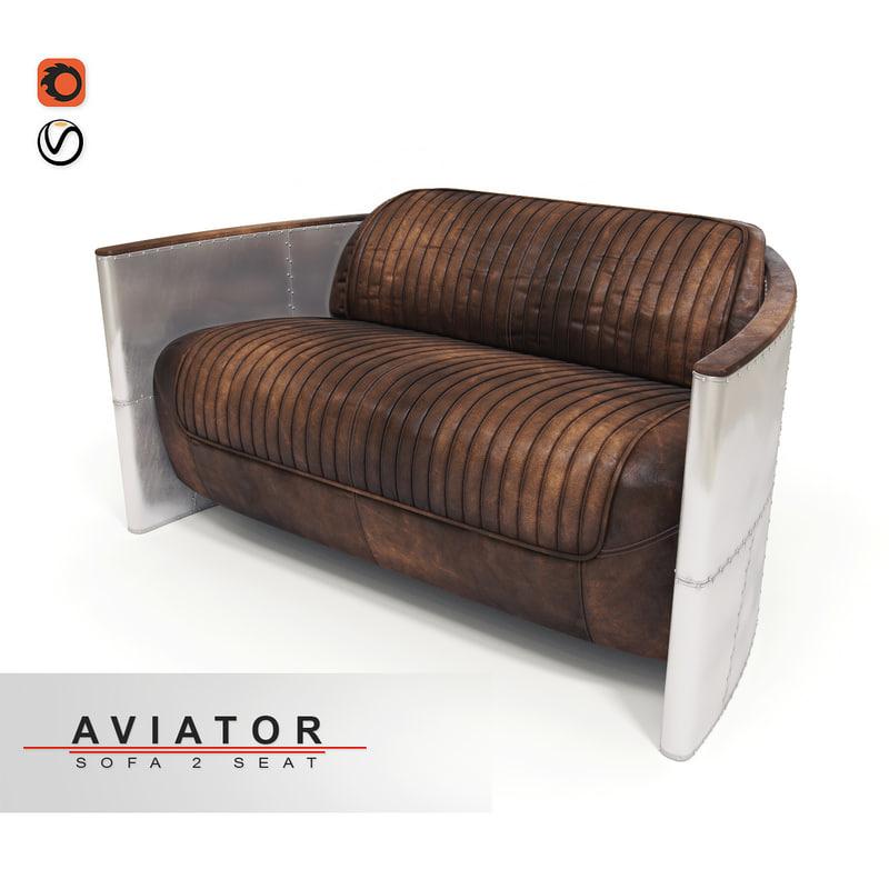 sofa aviator 3d model