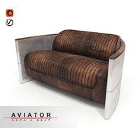 sofa aviator 3d model