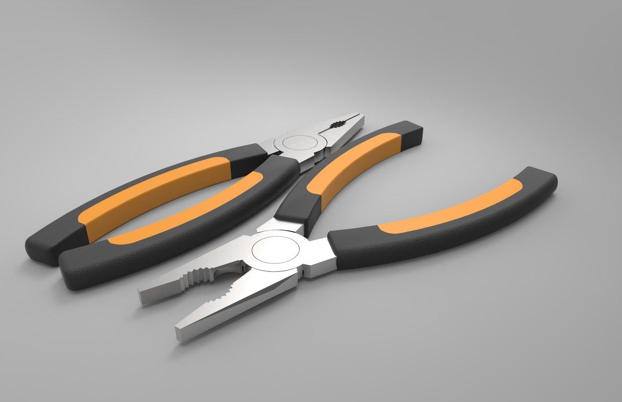 steel pliers obj
