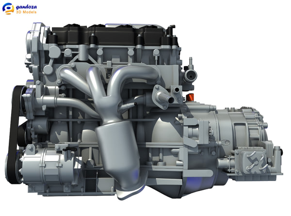 nissan altima hybrid engine 3d 3ds