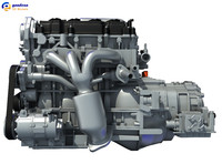 nissan altima hybrid engine 3d 3ds
