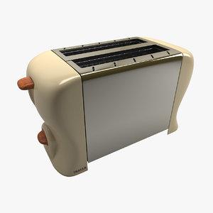 3d vintage toaster