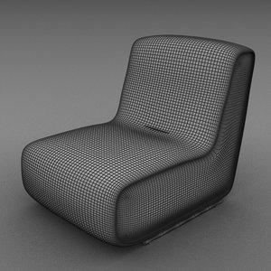3d model silla sofa modular
