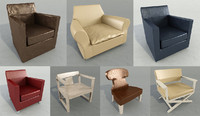 arm chair cassina 3d max
