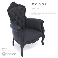 3d moooi smoke chair