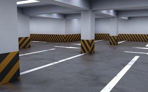 parking lot garage 3d c4d