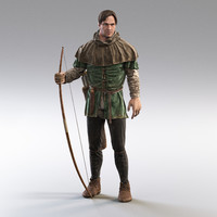 medieval huntsman 3d model