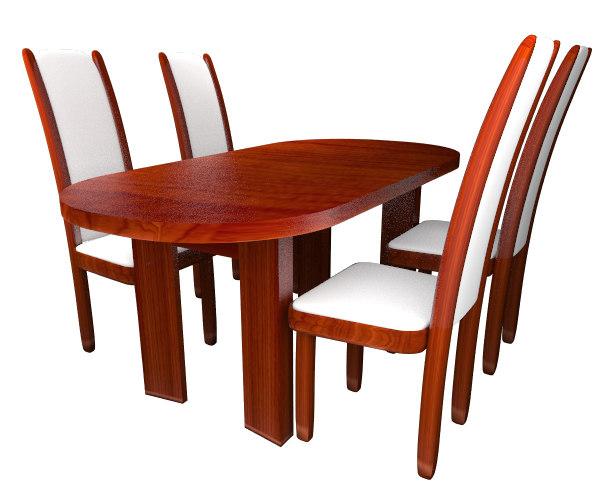 table chair 3d ma