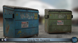 obj dumpster pbr