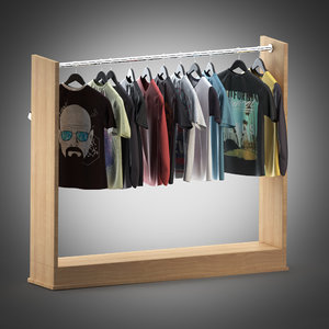 t-shirts shirts hangers 3d model