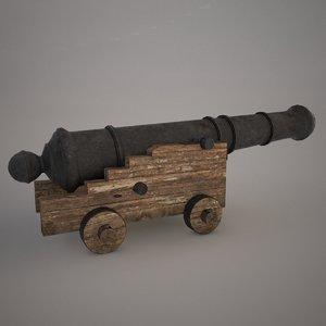 ship cannon 3d model