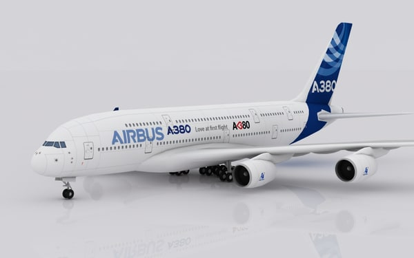 3d airplane airbus a380