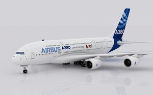3d airplane airbus a380