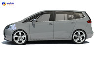 Opel Zafira 3D Car Model