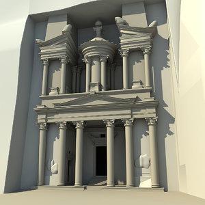 petra city stone 3d model