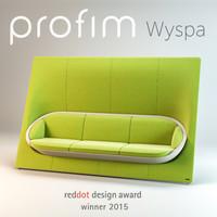 Office modern sofa profim wyspa 32 3-seat