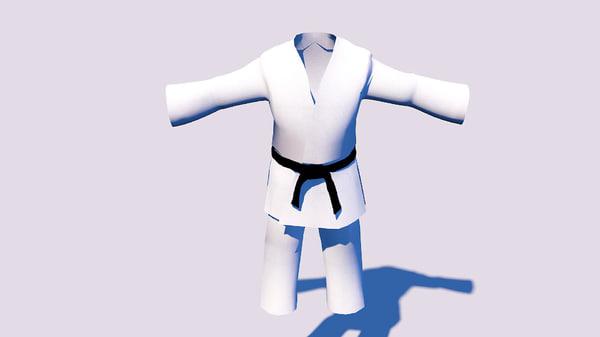 karategi karate kimono 3d c4d