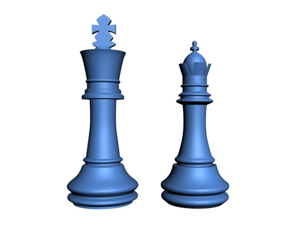 3d peas xadrez rainha e