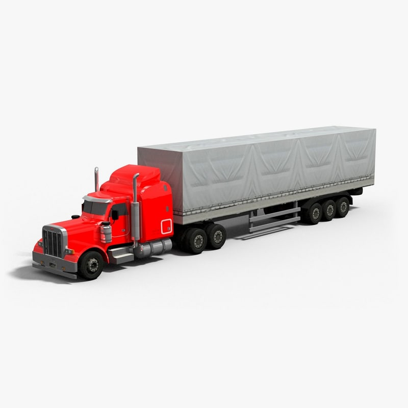 18 semi truck 3d model