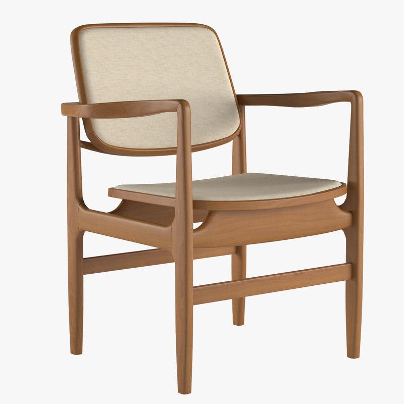 armchair linbrasil 3d model