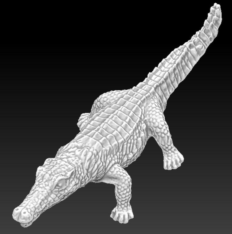crocodile alligator printing 3d obj