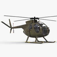 Light Helicopter Hughes OH-6 Cayuse Military