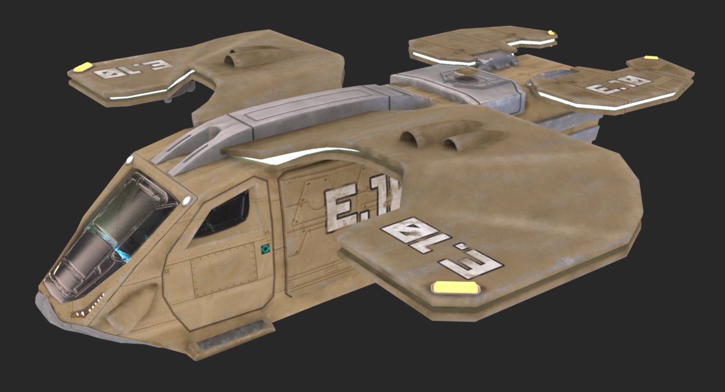 3d model military transport ship