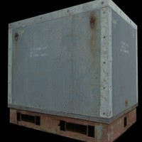 Freight Crate 3D Model