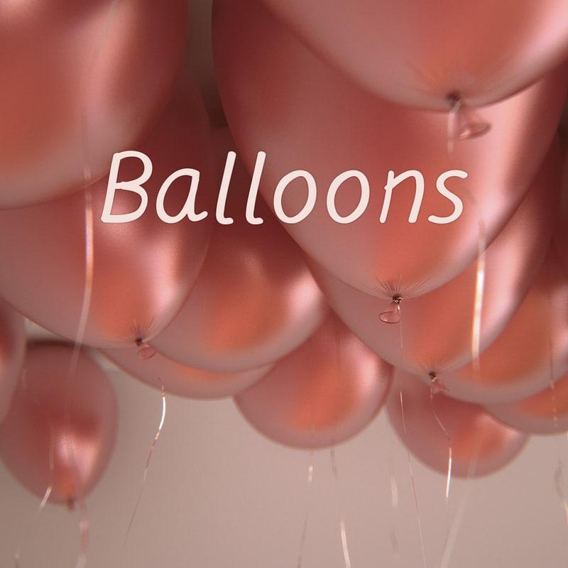 3d 25 balloons