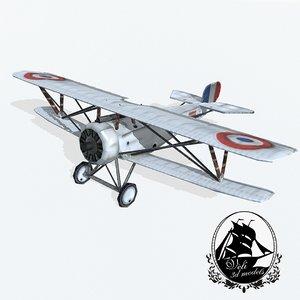 3d nieuport 17 fighter