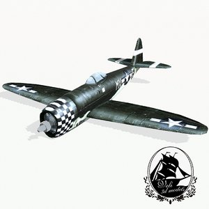 republic p-47 thunderbolt fighter 3d model