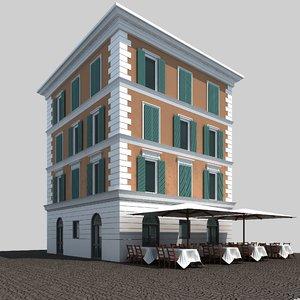 3d building rome architectural