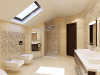 modern bathroom interior 3d max
