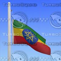 flag ethiopia - loop 3d max