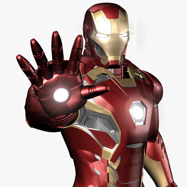 iron man avengers mark 3d obj