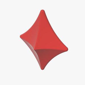 red diamond suit 3d model