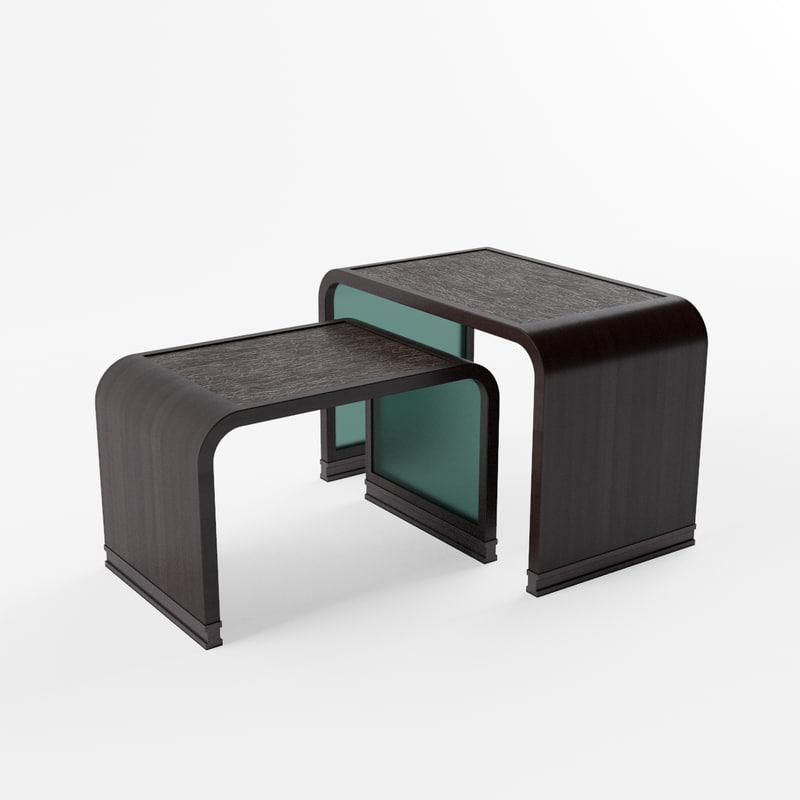 3d francissultana diana nest table