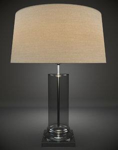 3d model glass table lamp interior