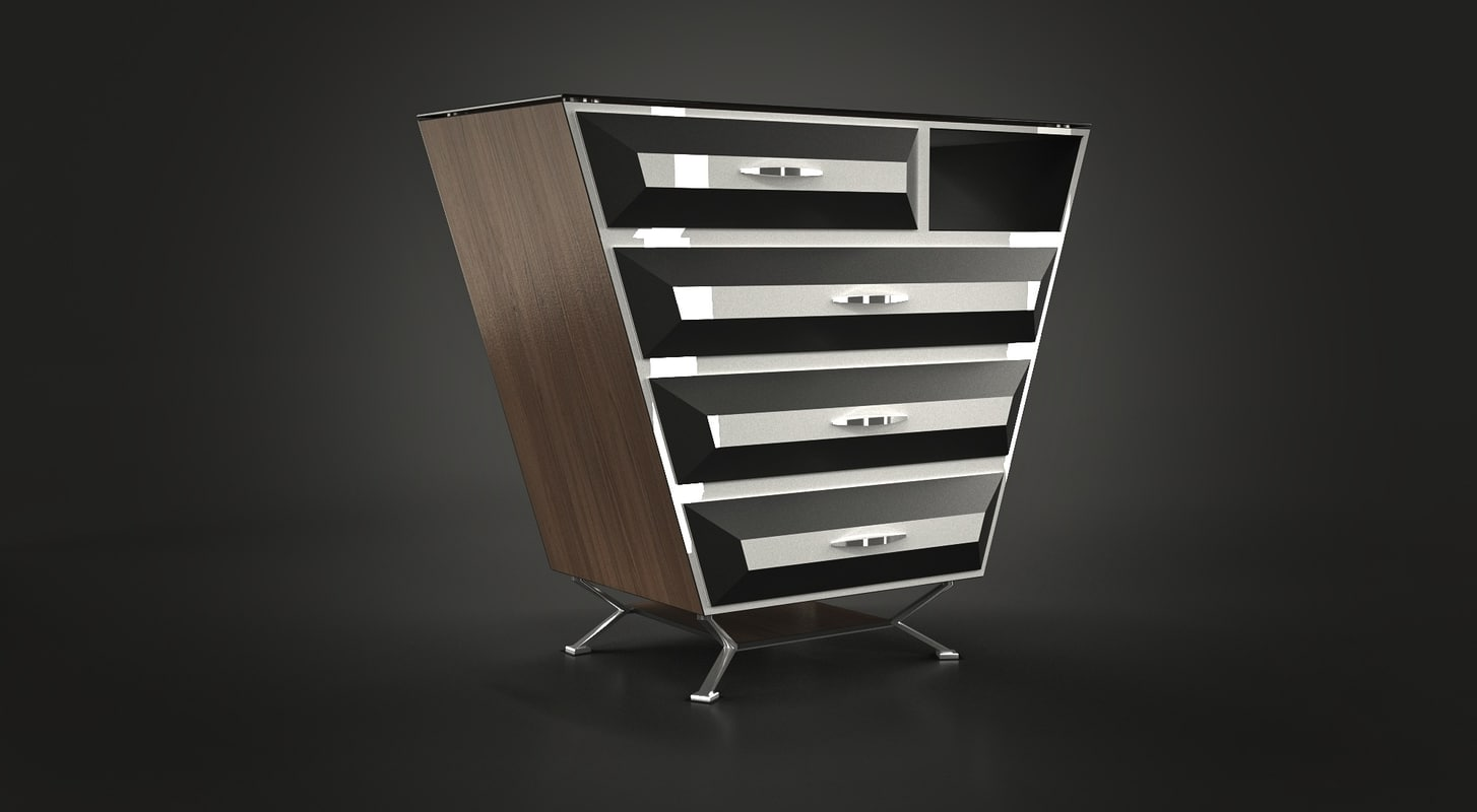 3d model dresser strict glass