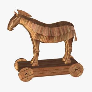 trojan horse 3d c4d