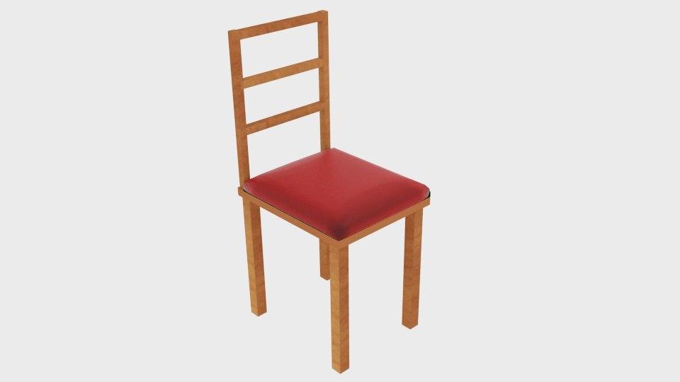 chair square obj