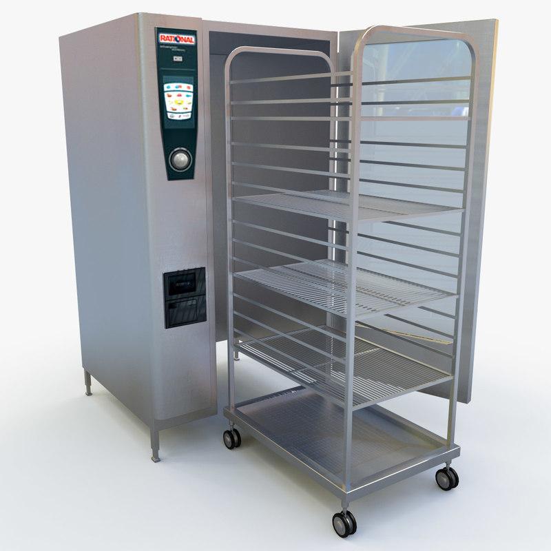 3d model combi oven rational