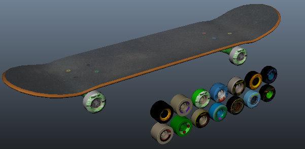 skateboard wheels 3d model