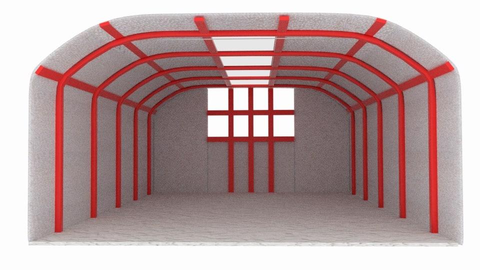 3d warehouse flat model