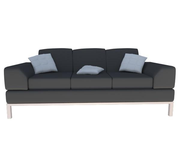 3d model moderne sofa